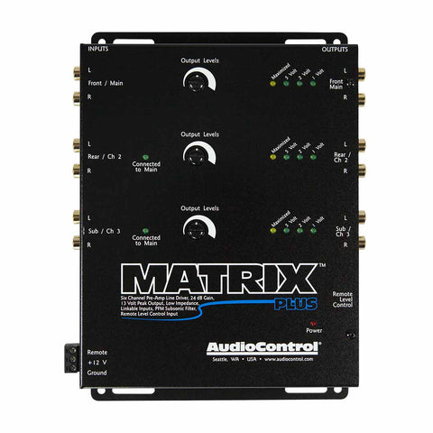 AudioControl Matrix Plus, 6 Channel Line Driver with Optional Level Control