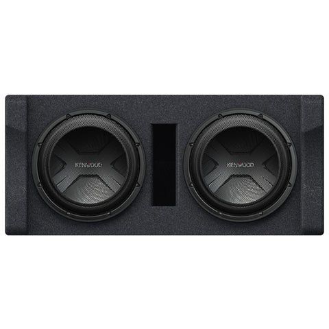 "Kenwood P-W3021D, Dual 12"" Vented Loaded Subwoofer Enclosure - 600W RMS"