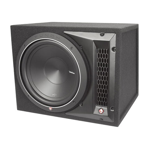 "Rockford Fosgate P1-1X10, Punch 10"" Ported Loaded Enclosure, 250 Watts RMS"