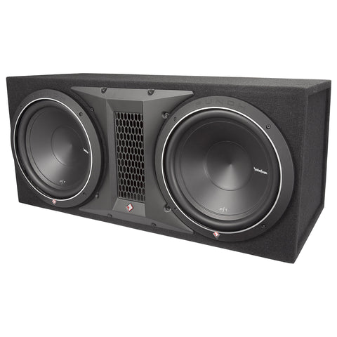 "Rockford Fosgate P1-2X10, Punch Dual 10"" Ported Loaded Enclosure, 500 Watts RMS"