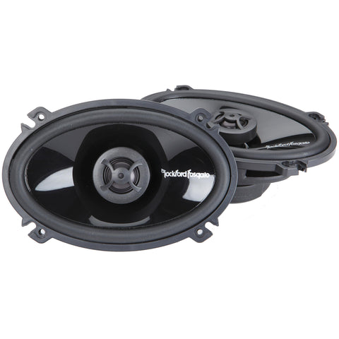 "Rockford Fosgate P1462, Punch 4X6"" Full Range Coaxial Speakers, 70W"