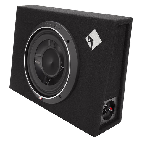 "Rockford Fosgate P3S-1X10, Punch 10"" Sealed Slim Loaded Enclosure, 300 Watts RMS"