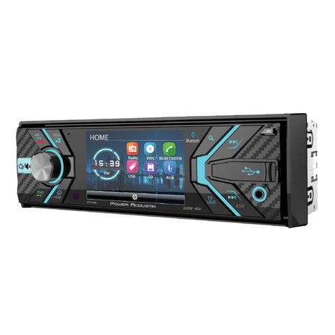 "Power Acoustik PD-348B, 1-DIN Incite Source Unit w/ Bluetooth & Deta Channelable 3.2"" LCD"