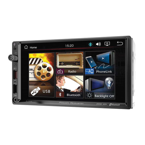 "Power Acoustik PL-700HB, 2-DIN Digital Media (no DVD) w/ Phonelink, Bluetooth & 7"" Capacitive LCD"