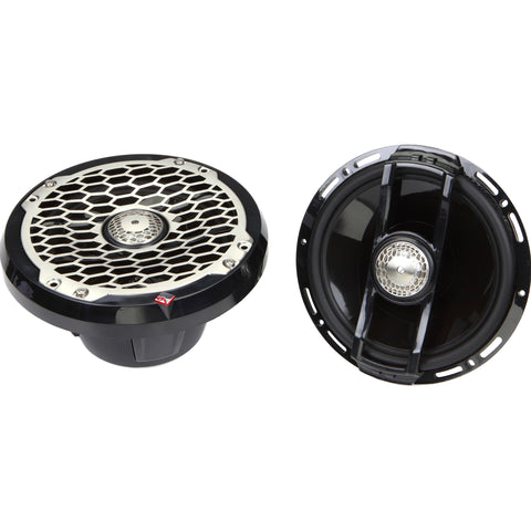 "Rockford Fosgate PM2652B, Punch Black 6.5"" Marine 2-Way Speaker System, 170W"