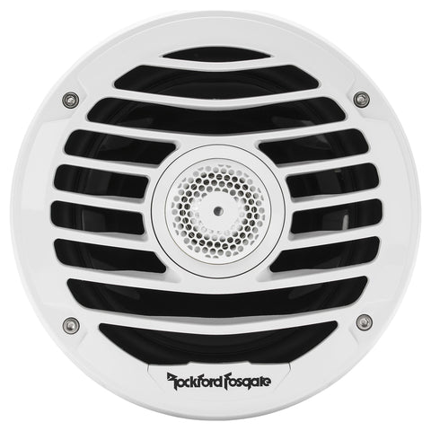 "Rockford Fosgate PM2652X, Punch White 6.5"" Marine 2-Way Speaker System w/ Integrated Luxury Grilles, 170W"