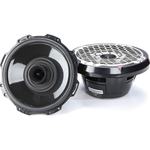 "Rockford Fosgate PM282H-B, Punch Black 8"" Marine 2-Way Speaker System With Horn Tweeter, 300W"