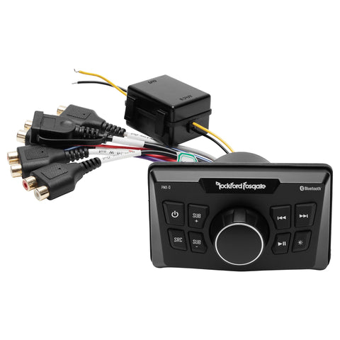 Rockford Fosgate PMX-0, Punch Ultra-Compact Media Receiver, Bluetooth, AUX and USB Inputs