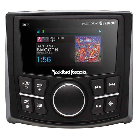 "Rockford Fosgate PMX-2, Punch 2.7"" Wet Bonded IPx6 Color Media Receiver"