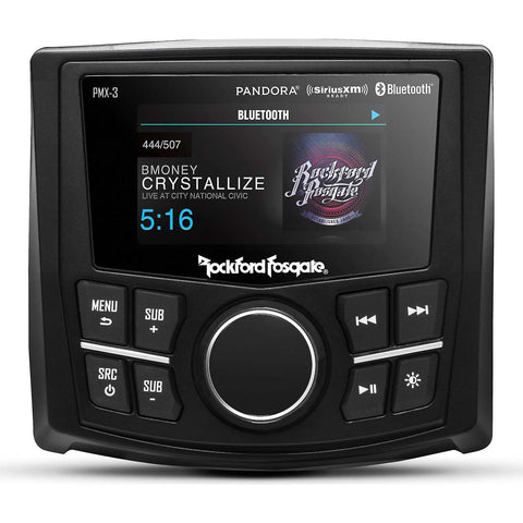 "Rockford Fosgate PMX-3, Punch 2.7"" Wet Bonded IPx6 Color Media Receiver"