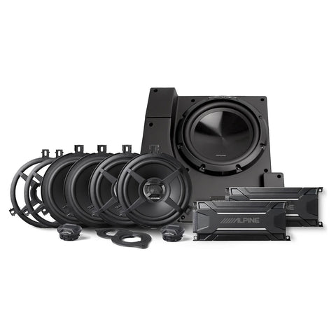 Alpine PSS-22WRA, Direct Fit Weather Resistant Sound System for 2011-2018 Jeep® Wrangler JK Unlimited