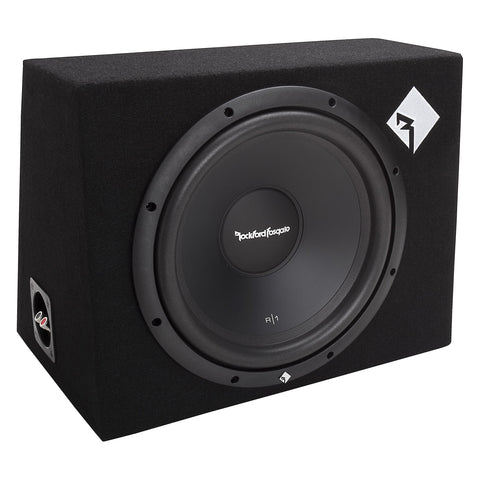 "Rockford Fosgate R1-1X12, Prime 12"" Sealed Loaded Enclosure, 200 Watts RMS"