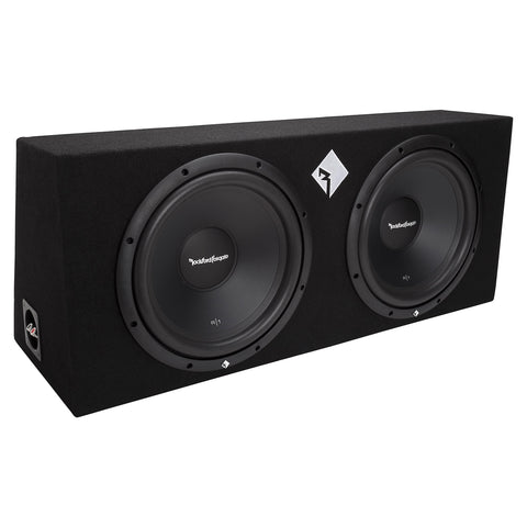 "Rockford Fosgate R1-2X12, Prime Dual 12"" Sealed Loaded Enclosure, 400 Watts RMS"