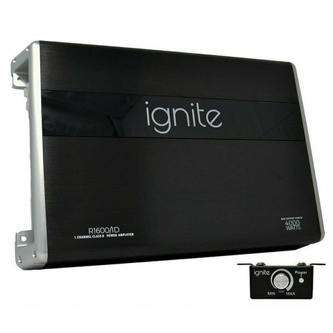Ignite Audio R1600/1D, Class D Mono Block Car Amplifier, 4000 Watts
