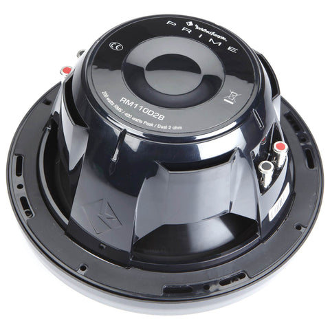 "Rockford Fosgate RM110D2, Prime White 10"" Marine 2 Ohm Dual Voice Coil Subwoofer, 400W"