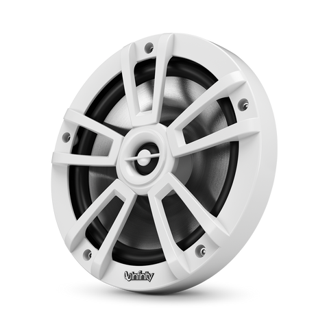 "Infinity 822MLW, 8"" 2-Way Marine Coaxial Speaker w/ RGB Lighting - White"