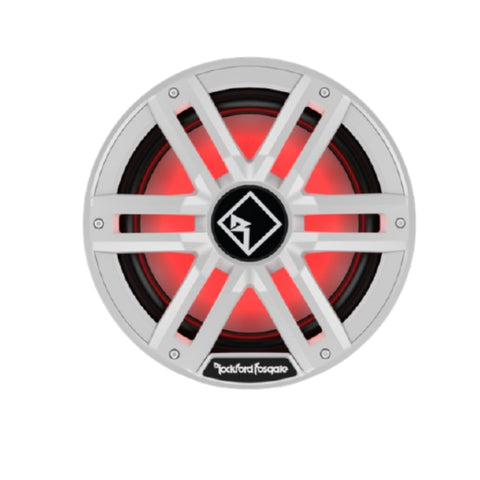 "Rockford Fosgate M2D4-12I, M2 Series 12"" Dual 4 Ohm Voice Coil Color Optixª Infinite Baffle Marine Subwoofer - White"