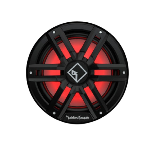"Rockford Fosgate M2D4-12IB, M2 Series 12"" Dual 4 Ohm Voice Coil Color Optixª Infinite Baffle Marine Subwoofer - Black"