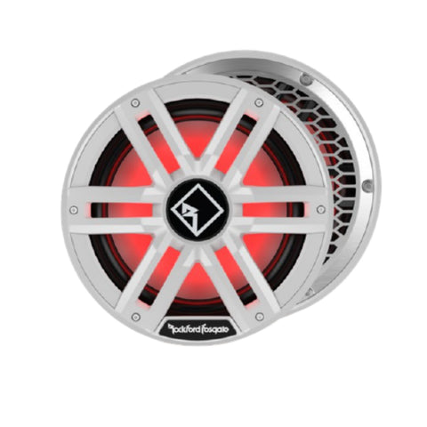 "Rockford Fosgate M2D2-12I, M2 Series 12"" Dual 2 Ohm Voice Coil Color Optixª Infinite Baffle Marine Subwoofer - White"