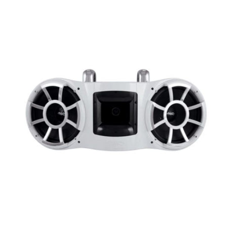 "Wet Sounds REV 410 W-FC, REV 410 Dual 10"" Tower Speakers with Fixed Mount Hardware - 800W"