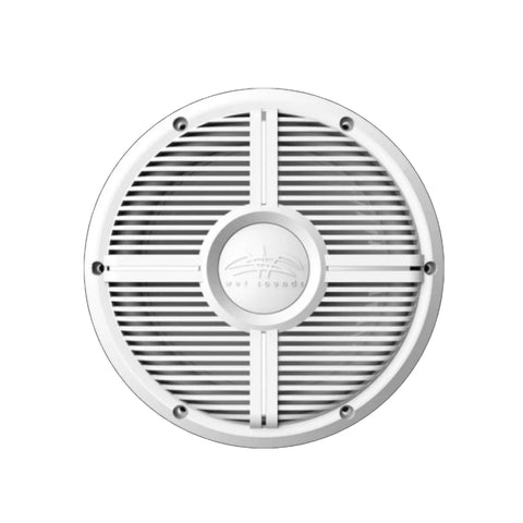 "Wet Sounds RECON 10 XW-W, Recon Subwoofer 10"" XW White Grill White Cone-closed Grille 4-Ohm Subwoofer - White"