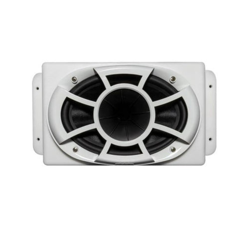 Wet Sounds REV 6X9-SM-W, REV Series 6x9 HLCD w/ Surface Mountable Roto-mold Enclosure & Grill - White