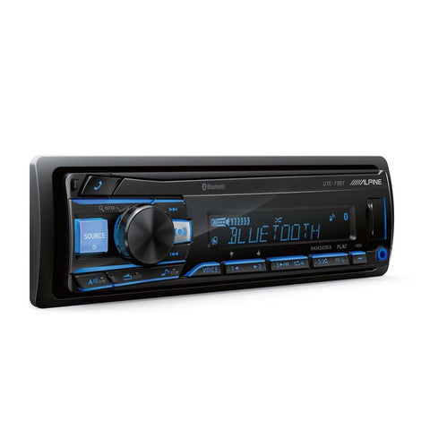 Alpine UTE-73BT, Single-DIN Digital Media Stereo w/ Bluetooth, USB & Auxiliary