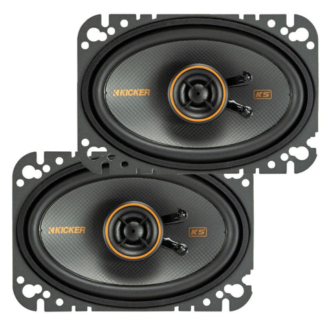 "Kicker KSC4604, KS Series 4x6"" Coaxial Speakers (47KSC4604)"