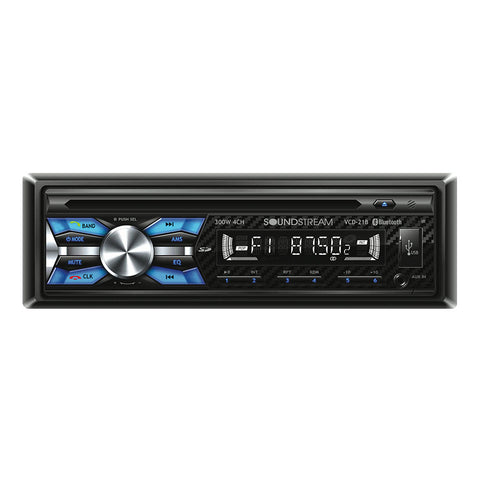 Soundstream VCD-21B, 1-DIN CD/MP3 Head Unit w/ 32GB USB, SD, AUX, & Bluetooth