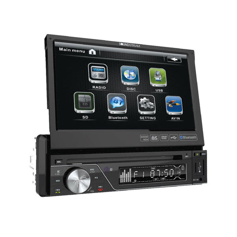 "Soundstream VIR-7830B, 1-DIN Source Unit w/ Bluetooth, & 7"" LCD"