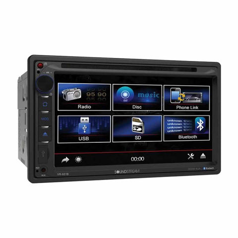 "Soundstream VR-651B, 2-DIN Source Unit w/ Bluetooth, & 6.5"" LCD"