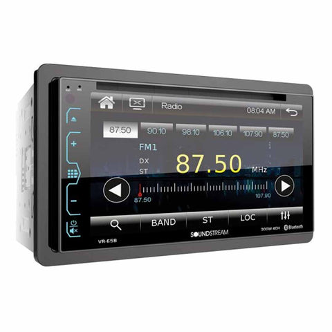"Soundstream VR-65B, 2-DIN AptiX Source Unit w/ Bluetooth, & 6.2"" LCD"