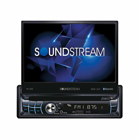 "Soundstream VR-720B, 1-DIN Source Unit w/ Bluetooth & Motorized 7"" LCD"
