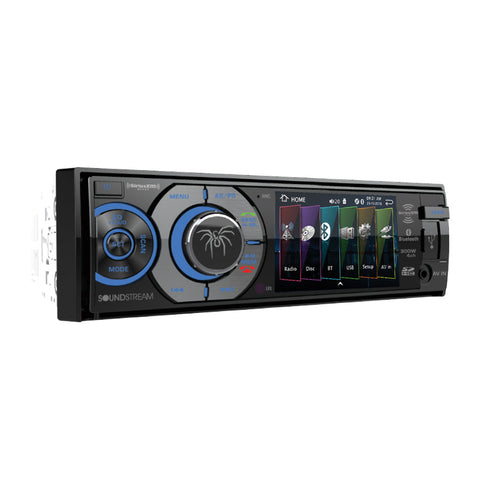 "Soundstream VR-345B, 1-DIN AptiX Source Unit, w/ Bluetooth, & Detach 3.4"" LCD"