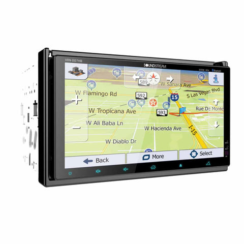 "Soundstream VRN-DD7HB, Dual 7"" LCD, 2-DIN AptiX Source Unit w/ iGO GPS, PhoneLink"