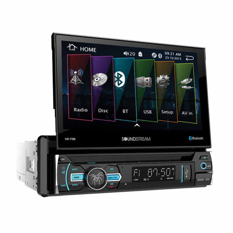 "Soundstream VRN-75HB, 1-DIN AptiX Source Unit w/ iGO GPS, PhoneLink, Bluetooth, & 6.2"" LCD"