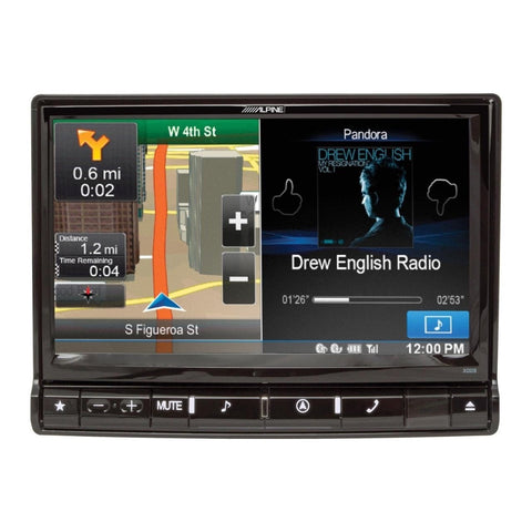 "Alpine X009-U, Universial Restyle System DVD/CD player, Multimedia, Navigation with 9"" touchscreen and AM/FM tuner"