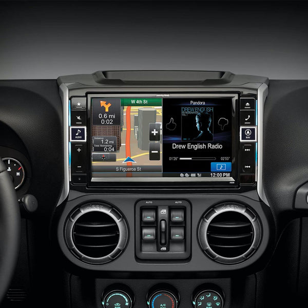 "Alpine X009-WRA, 9"" In-Dash Restyle System For 2011-up Jeep Wrangler and Wrangler Unlimited models"