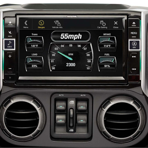 "Alpine X109R-WRA, 9"" In-Dash Restyle System For select for 11-18 Jeep Wrangler"