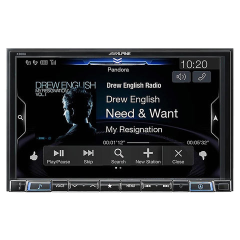 "Alpine X308U, 8"" Mech-less Restyle Navigation Receiver w/ CarPlay & Android Auto"