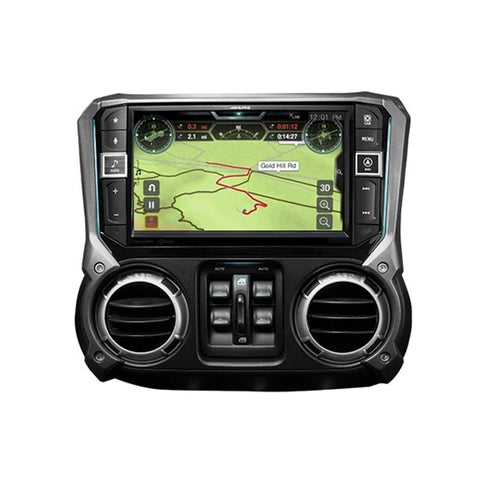 "Alpine X409-WRA-JK, 9"" Weather-Resistant Navigation System with Off-Road Mode for the 2011–2018 Jeep® Wrangler"
