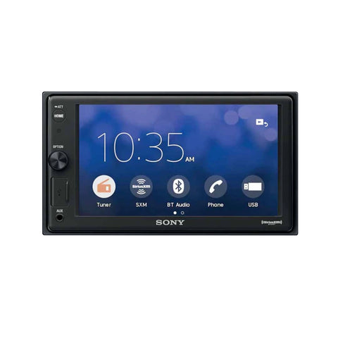 "Sony XAV-V10BT, 6.2"" Double Din Mech-less Digital Media Receiver  w/ Bluetooth"