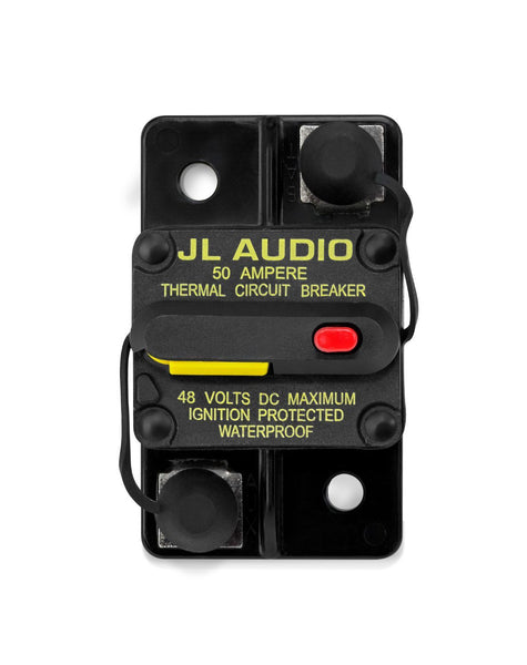 JL Audio XMD-MCB-50, Waterproof Ignition Protected Circuit Breaker, 50A
