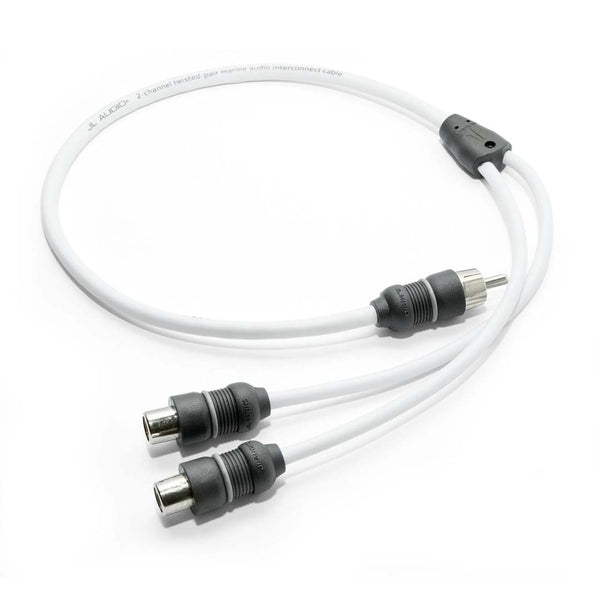 JL Audio XMD-WHTAICY-1M2F, Marine Y-Adaptor, 1 Male Plug, 2 Female Jacks
