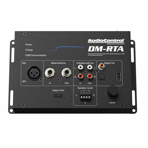 AudioControl DM-RTA BASE KIT, Hard Case w/ Test Leads, USB A to A and Power Supply