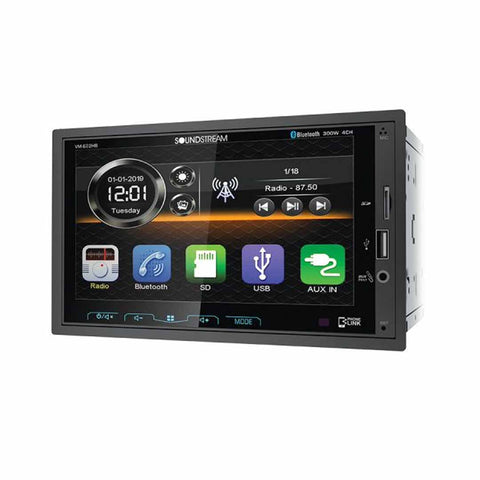 "Soundstream VM-622HB, 2-DIN Digital Media (no DVD) w/ Phonelink, Bluetooth & 6.2"" Capacitive LCD"