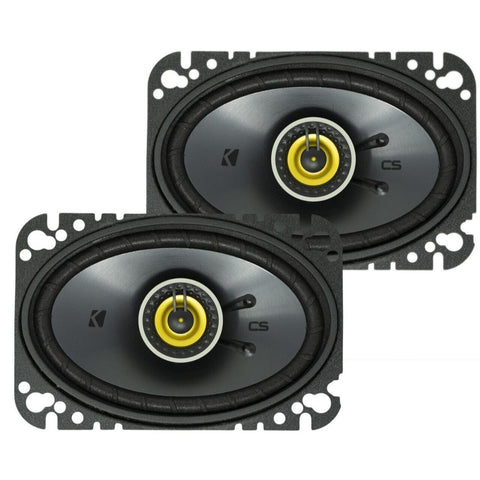 "Kicker CSC464, CS Series 4x6"" Coaxial Speakers (46CSC464)"