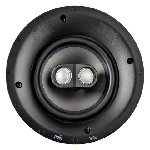 "Polk Audio V6s, Vanishing V Series 6.5"" Switchable Stereo and Surround Sound In-Ceiling Speaker"
