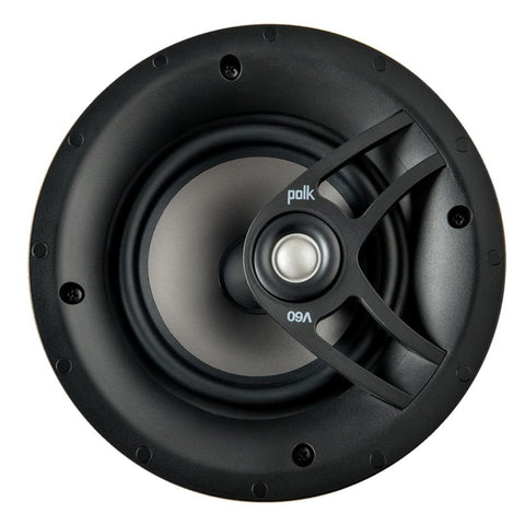 "Polk Audio V60, Vanishing V Series 6.5"" High Performance In-Ceiling Speaker"