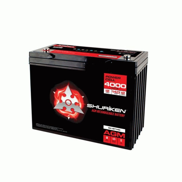 Shuriken SK-BT140, 4000W 140AMP Hours Large Size AGM 12V Battery